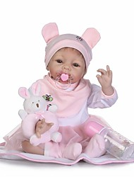 cheap -NPKCOLLECTION NPK DOLL Reborn Doll Baby 24 inch Silicone - Newborn Child Safe Non Toxic Artificial Implantation Blue Eyes Tipped and Sealed Nails Natural Skin Tone Kid's Unisex / Girls' Toy Gift