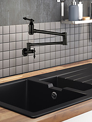 cheap -Kitchen faucet / Bathroom Sink Faucet - Two Handles One Hole Painted Finishes Pot Filler Wall Installation