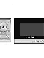 Недорогие -xinsilu xsl-v70k-l лента multifamily video doorbell 7-дюймовый hands-free 800 * 480 пикселей один к одному видеодомофон