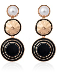 cheap -Women's Pearl Drop Earrings Ladies Classic Fashion Pearl Earrings Jewelry Black / Blue / Pink For School Going out 1 Pair