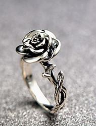 cheap -Ring Sculpture Silver Alloy Flower Ladies Vintage Romantic 1pc 6 7 8 9 / Women's