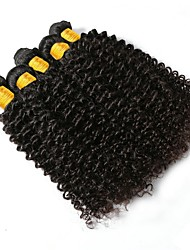 cheap -6 Bundles Peruvian Hair Curly Human Hair Natural Color Hair Weaves / Hair Bulk Human Hair Extensions 8-28 inch Natural Color Human Hair Weaves Best Quality New Arrival Hot Sale Human Hair Extensions