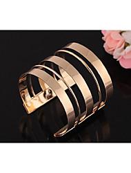 cheap -Women's Cuff Bracelet Layered Punk Rock Alloy Bracelet Jewelry Gold / Silver For Club Bar