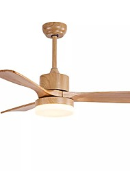 cheap -1-Light 132 cm Ceiling Fan Metal Wood / Bamboo Wood Modern 110-120V / 220-240V