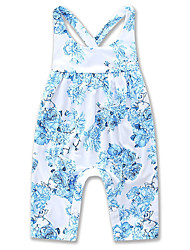 cheap -Baby Girls' Active / Basic Daily / Holiday Floral / Print Printing Sleeveless Overall & Jumpsuit Blue / Toddler