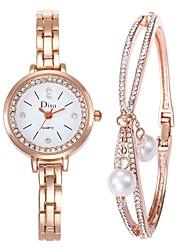 cheap -Women's Dress Watch Bracelet Watch Diamond Watch Quartz Stainless Steel Silver 50 m Creative Analog Ladies Elegant - Silver Gold / Black Rose Gold One Year Battery Life