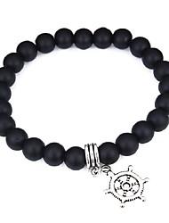abordables -Bracelet à Perles Femme Cristal dames Mode Bracelet Bijoux Blanc Noir pour Ecole Plein Air