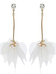 cheap -Women's Crystal Drop Earrings Long Leaf Ladies European Sweet Earrings Jewelry Light Blue / Light Brown / Light Green For Gift Daily 1 Pair