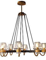 cheap -LWD 8-Light Candle-style / Sputnik Chandelier Uplight Painted Finishes Metal Glass New Design, Candle Style 110-120V / 220-240V Bulb Not Included