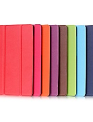 cheap -Case For Samsung Galaxy Tab S2 9.7 / Tab E 9.6 with Stand / Flip Full Body Cases Solid Colored Hard PU Leather