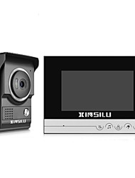 cheap -XINSILU® Security 7inch Wired Video Door Phone Doorbell Intercom Door Access Control System XSL-V70R-LBlack Color Outdoor Camera