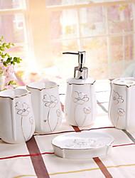 cheap -Bathroom Accessory Set New Design / Multifunction Contemporary Ceramic 5pcs - Bathroom Single