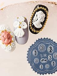 Недорогие -1 pcs Инструмент для штамповки ногтей шаблон Модный дизайн маникюр Маникюр педикюр Ретро / Элегантный стиль На каждый день