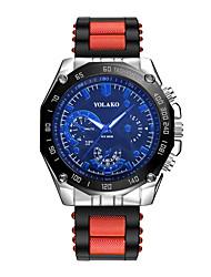 cheap -Men's Wrist Watch Quartz Silicone Blue / Silver / Red Casual Watch Analog Fashion - Blue White / Blue Black / Gray