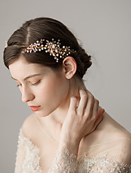 cheap -Imitation Pearl / Alloy Headbands with Flower 1 Piece Wedding / Party / Evening Headpiece
