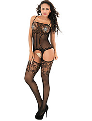cheap -Women's Cut Out / Mesh Suits Nightwear Jacquard Black Red One-Size / Strap
