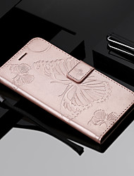 cheap -Case For Nokia Nokia 9 PureView / Nokia 7.1 / Nokia 6 2018 Wallet / Card Holder / with Stand Full Body Cases Butterfly Hard PU Leather