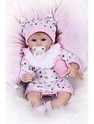 cheap -NPKCOLLECTION NPK DOLL Reborn Doll Girl Doll Baby Girl 18 inch Newborn Gift Artificial Implantation Brown Eyes Kid's Girls' Toy Gift