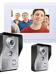 cheap -MOUNTAINONE SY819MKW21 7 Inch Video Door Phone 7 inch Hands-free 700 TV Line One to One video doorphone
