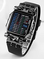 cheap -Men's Sport Watch Military Watch Analog - Digital Digital Classic Creative Luminous Cool / One Year / Stainless Steel / Japanese