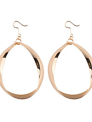 cheap -Women's Drop Earrings Hoop Earrings Hollow Drop Ladies European Trendy Fashion Earrings Jewelry Gold / Silver For Daily School 1 Pair