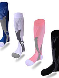 Недорогие -Футбольные носки Спортивные носки Футбольные Носки Нейлон Муж. Жен. Компрессионные носки Воздухопроницаемость 1 пара