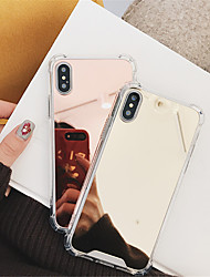 cheap -Case For Apple iPhone X / iPhone 8 Plus / iPhone 8 Shockproof / Mirror Back Cover Solid Colored Hard PC