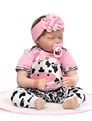 cheap -NPKCOLLECTION NPK DOLL Reborn Doll Baby Reborn Toddler Doll Reborn Baby Doll 24 inch Silicone - lifelike Gift Hand Made Child Safe New Design Non Toxic Kid's Girls' Toy Gift / Natural Skin Tone