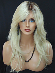cheap -Synthetic Wig Wavy Wavy Wig Long Blonde Synthetic Hair Women's Heat Resistant Ombre Hair Dark Roots Blonde