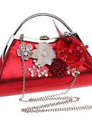 cheap -Women's Bags Polyester Alloy Evening Bag Flower Floral Print Wedding Bags Wedding Party Event / Party Black Blue Red Gold