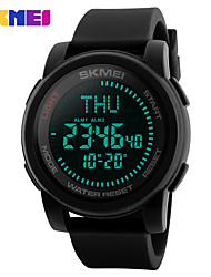 cheap -SKMEI Men's Sport Watch Digital Watch Digital Silicone Black 30 m Water Resistant / Waterproof Calendar / date / day Noctilucent Digital Casual Fashion - Black Green One Year Battery Life