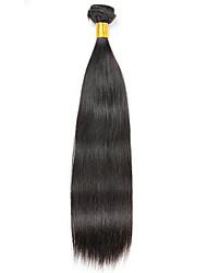 Недорогие -1 комплект Бразильские волосы Прямой Натуральные волосы 100 g Накладки из натуральных волос 8-28 дюймовый Естественный цвет Ткет человеческих волос Удлинитель Расширения человеческих волос / 8A