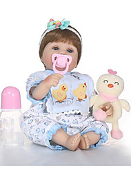 cheap -NPKCOLLECTION NPK DOLL Reborn Doll Girl Doll Baby Girl 18 inch Gift Hand Made Artificial Implantation Blue Eyes Kid's Girls' Toy Gift