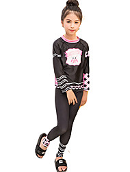 cheap -SBART Girls' Rash Guard Dive Skin Suit Elastane Diving Suit UV Sun Protection Breathable Full Body 2-Piece - Swimming Diving Snorkeling Fashion Summer / Micro-elastic