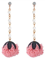 cheap -Women's Drop Earrings Long Drop Ladies Stylish Earrings Jewelry Red / Blue / Pink For School Birthday 1 Pair