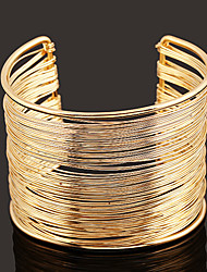 cheap -Women's Cuff Bracelet Wide Bangle Layered Simple European Fashion Alloy Bracelet Jewelry Gold / Silver For Daily