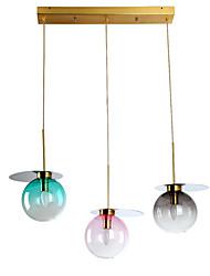 cheap -ZHISHU 3-Light 80 cm Creative Chandelier Metal Glass Cluster Painted Finishes Artistic Globe 110-120V 220-240V