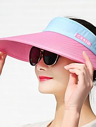 cheap -Women's Sun Hat Rayon Active - Color Block Summer Black Fuchsia / Fabric