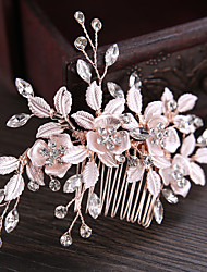 cheap -Rhinestone / Alloy Hair Combs / Hair Stick / Hair Accessory with Rhinestone / Floral 1 Piece Wedding / Party / Evening Headpiece
