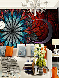cheap -Red and Blue Large Flowers Customized Wall Coverings 3D Murals Wallpapers Suitable for Bedrooms Living Room Office
