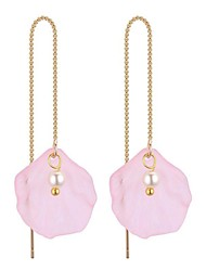 cheap -Women's Drop Earrings Long Ladies Stylish Vintage Imitation Pearl Earrings Jewelry Green / Light Pink / Dark Purple For Daily Date 1 Pair