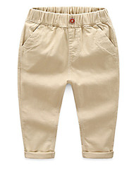 cheap -Kids Boys' Basic Daily Solid Colored Cotton Pants Navy Blue