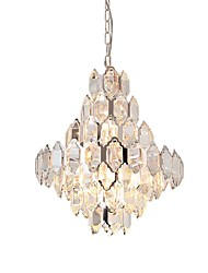 cheap -QIHengZhaoMing 10-Light 55 cm Chandelier Metal Crystal Electroplated Modern 110-120V / 220-240V