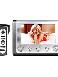 cheap -MOUNTAINONE 7 Inch TFT Video Door Phone Doorbell Intercom Kit 1-Camera 1-Monitor Night Vision with HD 700TVL Camera TFT LCD Display Wall Mounted Hands-free