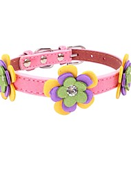 cheap -Dogs Cats Pets Collar Dog Training Collars Necklace Portable Mini Trainer Geometric Flower / Floral Poly urethane Brown Red Pink