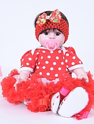cheap -FeelWind Reborn Doll Girl Doll Baby Girl 20 inch lifelike Hand Made Child Safe Non Toxic Parent-Child Interaction Hand Rooted Mohair Kid's Girls' Toy Gift / Artificial Implantation Brown Eyes