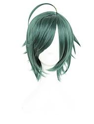 cheap -King of Glory Cosplay Cosplay Wigs Unisex 14 inch Heat Resistant Fiber Dark Green Anime