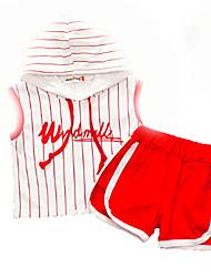 cheap -Baby Boys' Basic Daily Striped Sleeveless Regular Clothing Set Black / Toddler