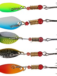 cheap -6 pcs Spoons Fishing Lures Hard Bait Spoons Sinking Bass Trout Pike Sea Fishing Bait Casting Ice Fishing Plastic Carbon Steel Stainless Steel / Iron / Freshwater Fishing / Carp Fishing / Bass Fishing