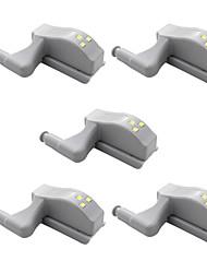 Недорогие -5 шт светлый шарнир светодиодный свет универсальный интеллектуальный сильный магнитная индукционная лампа для шкафа шкаф шкафы ящики